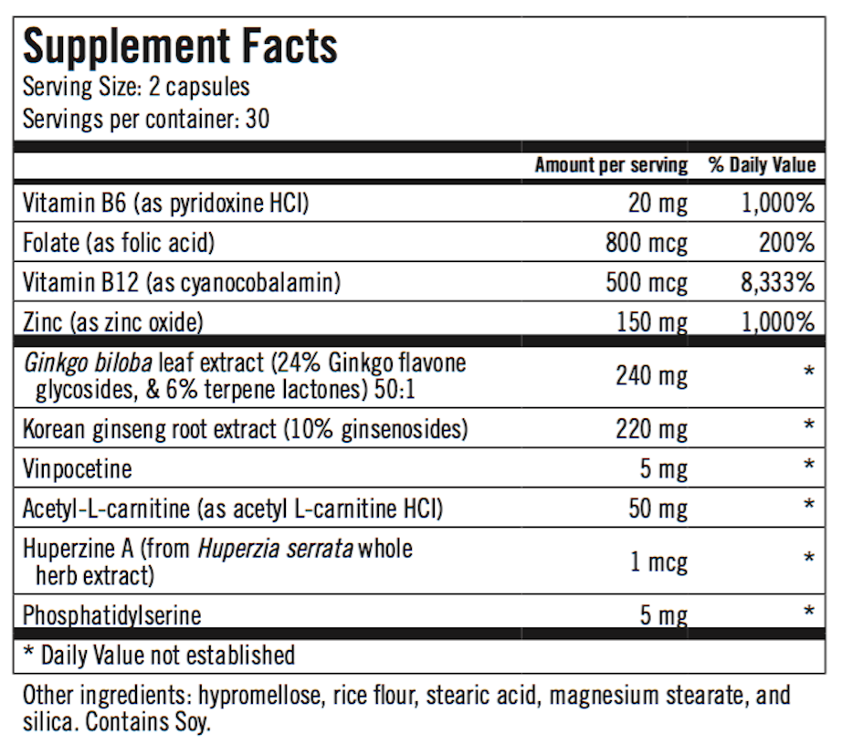 Alpha Levo IQ Ingredients